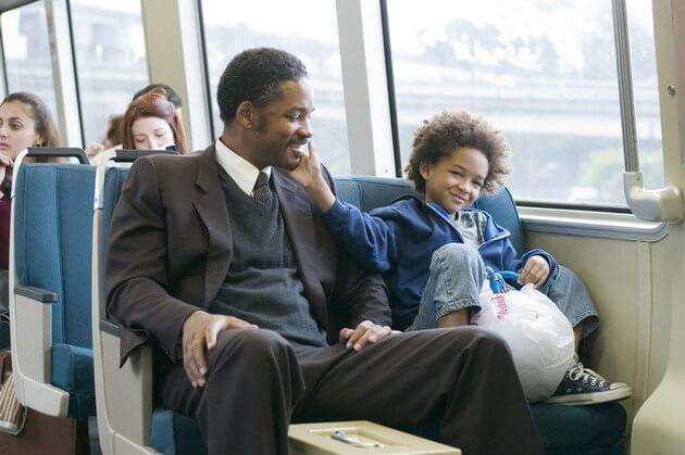 escena autobús película en busca de la felicidad