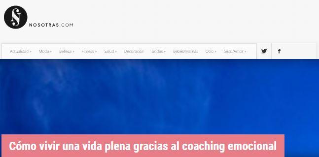 portada de revista digital nosotras.com que habla sobre el coaching emocional